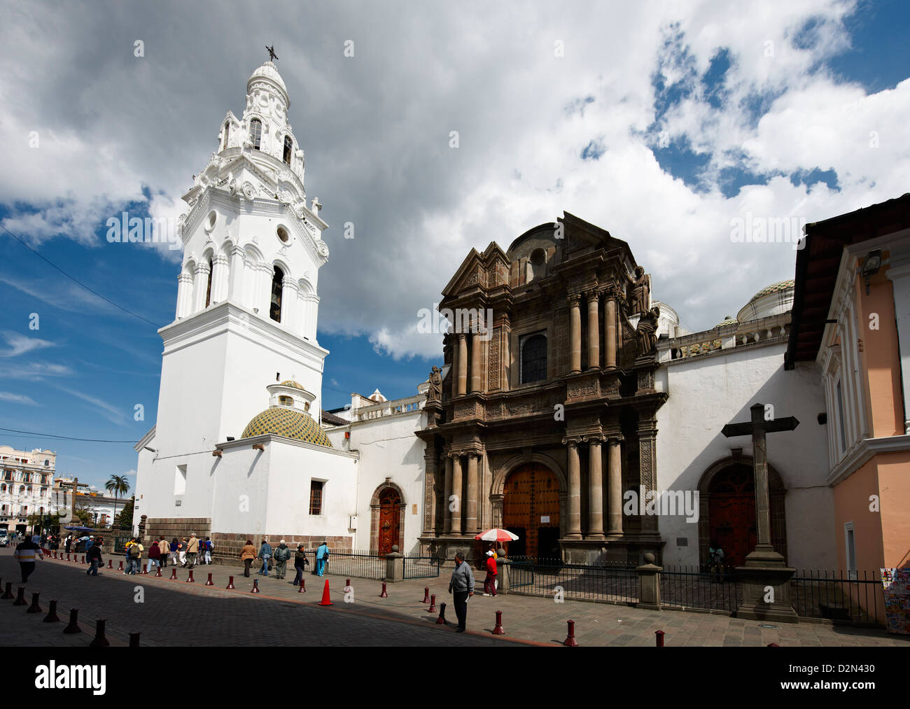 Iglesia El Sarario, centre historique de Quito, Équateur Photo Stock