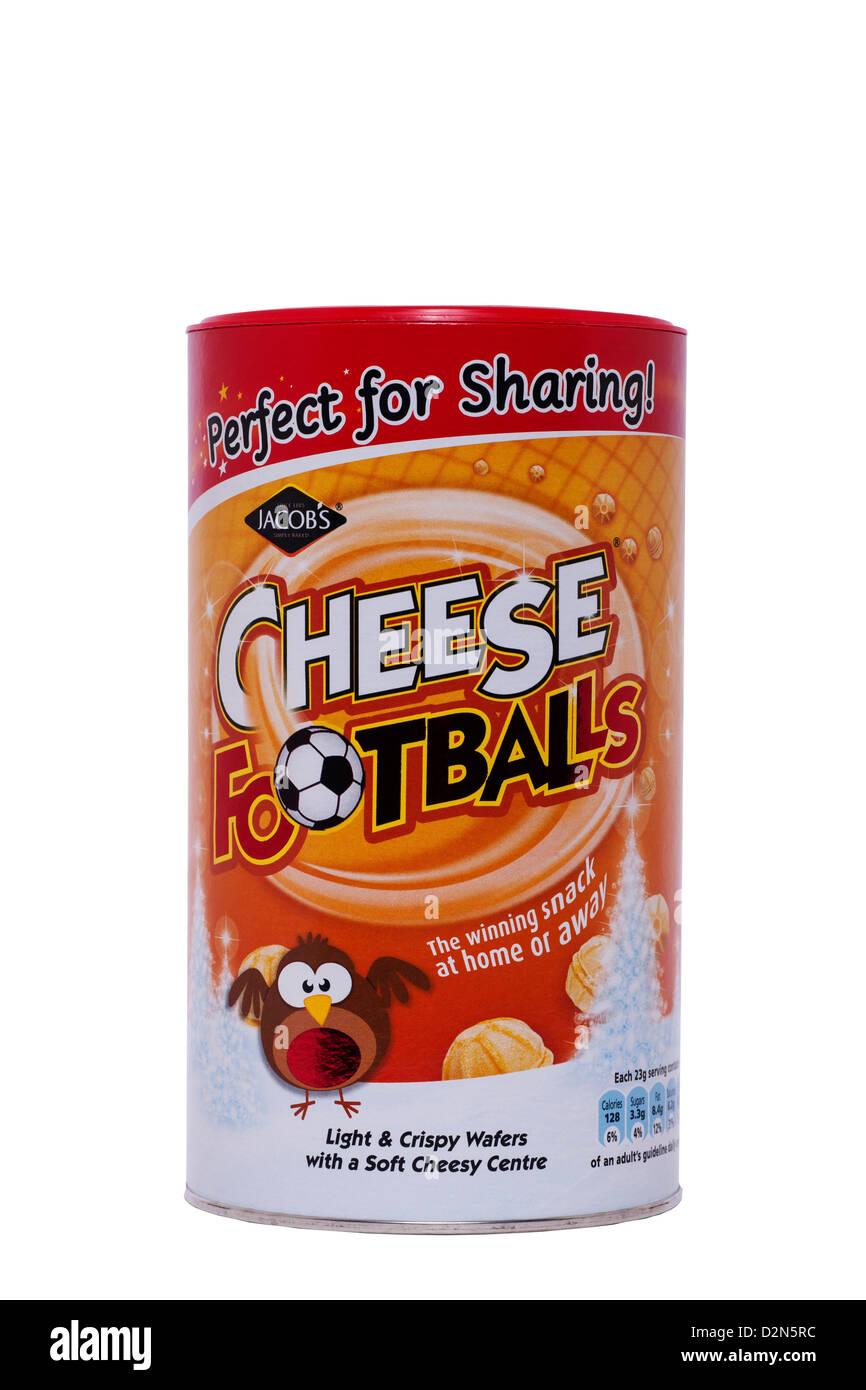 Une baignoire de Jacob's ballons de fromage sur un fond blanc Banque D'Images