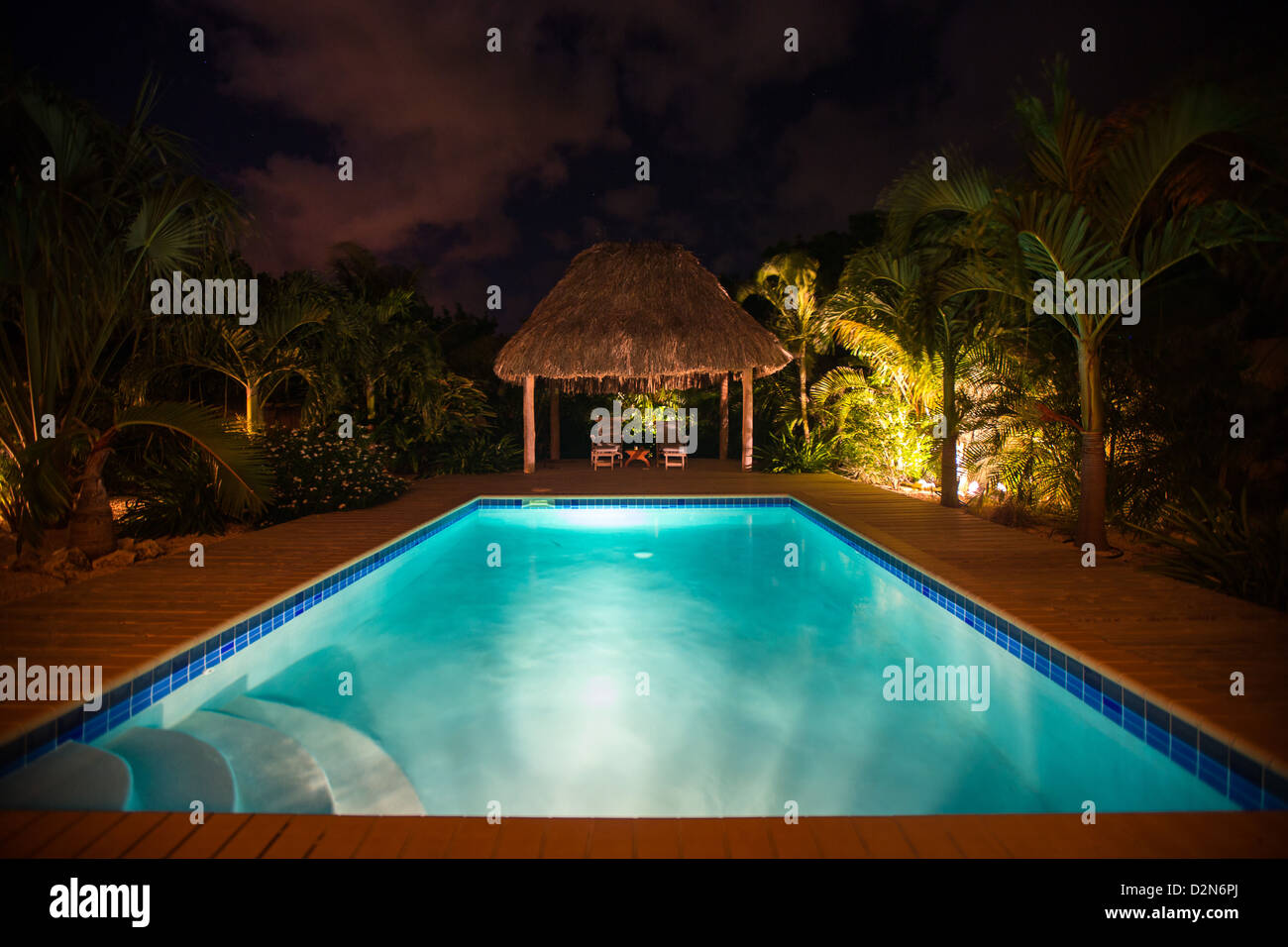 Location maison dans les Caraïbes Banque D'Images