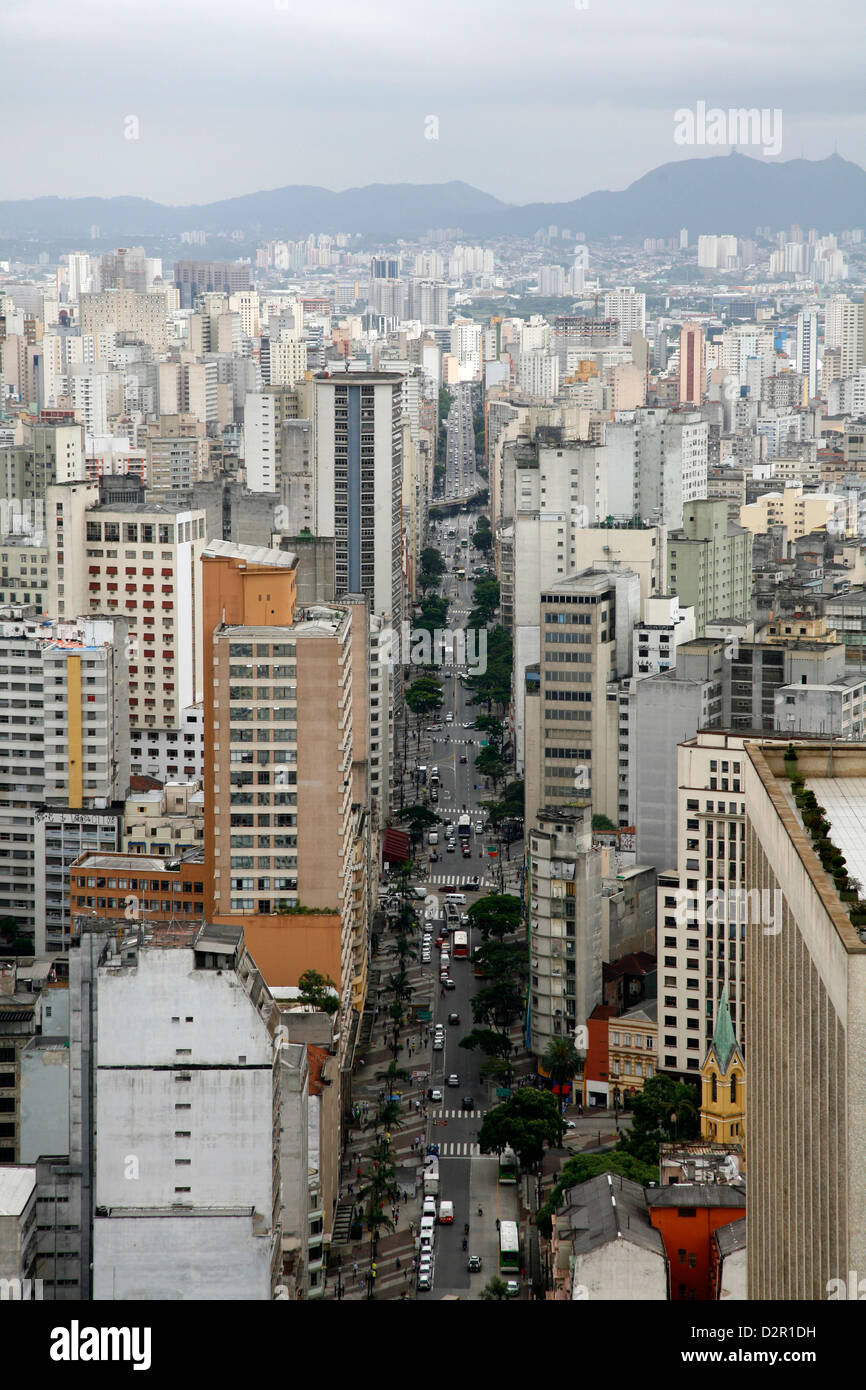 Skyline de Sao Paulo, Brésil, Amérique du Sud Photo Stock