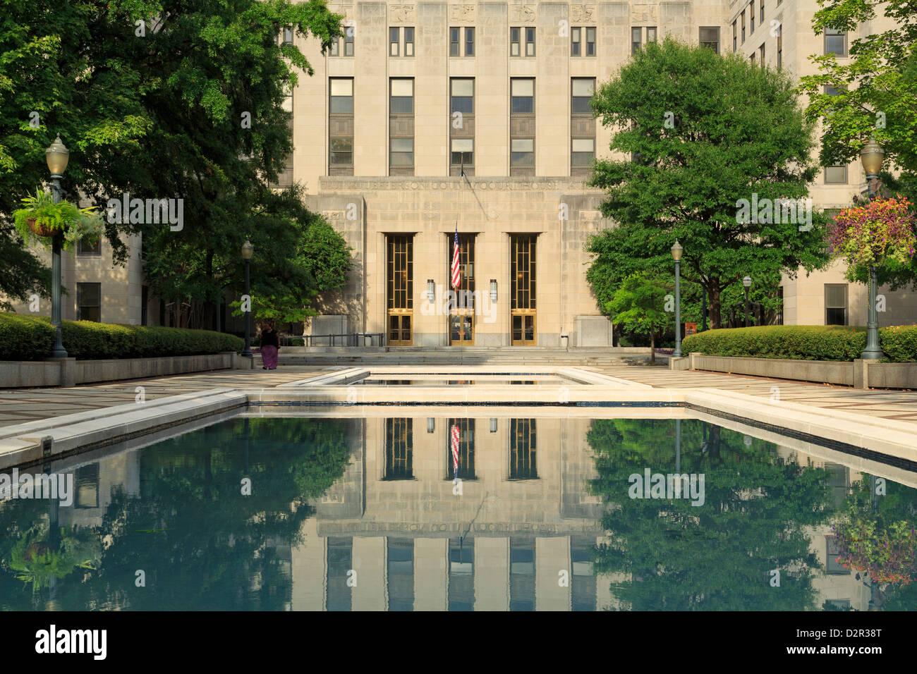 Palais de justice du comté de Jefferson dans Linn Park, Birmingham, Alabama, États-Unis d'Amérique, Photo Stock