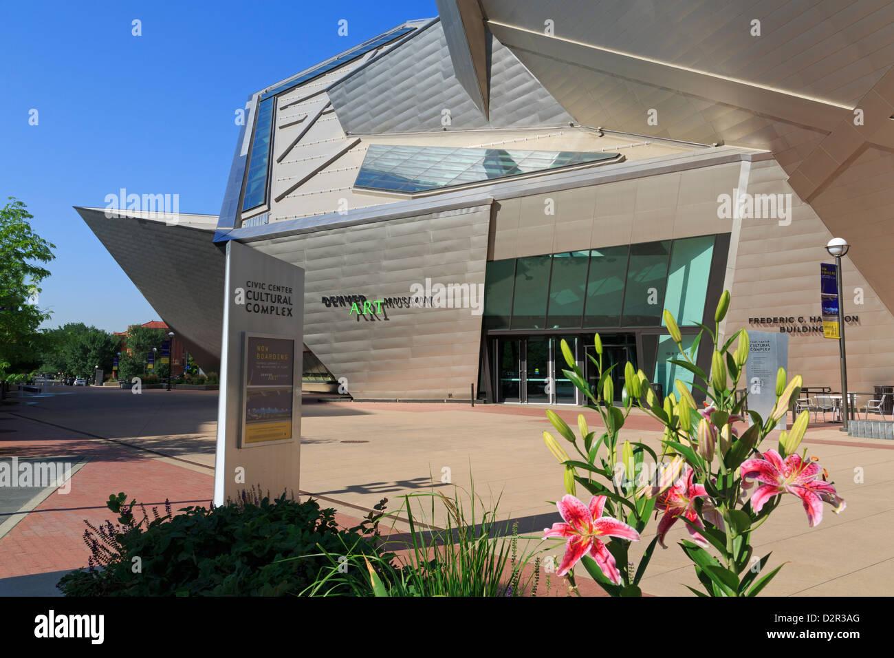 Denver Art Museum, complexe culturel du centre civique, Denver, Colorado, États-Unis d'Amérique, Amérique Photo Stock