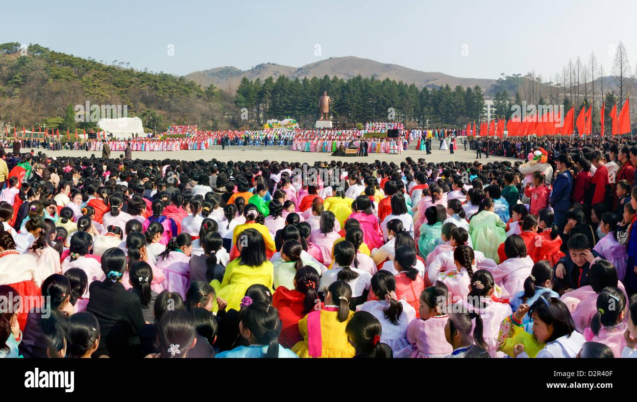 À l'occasion des célébrations du 100e anniversaire de la naissance du Président Kim Il Sun, Photo Stock