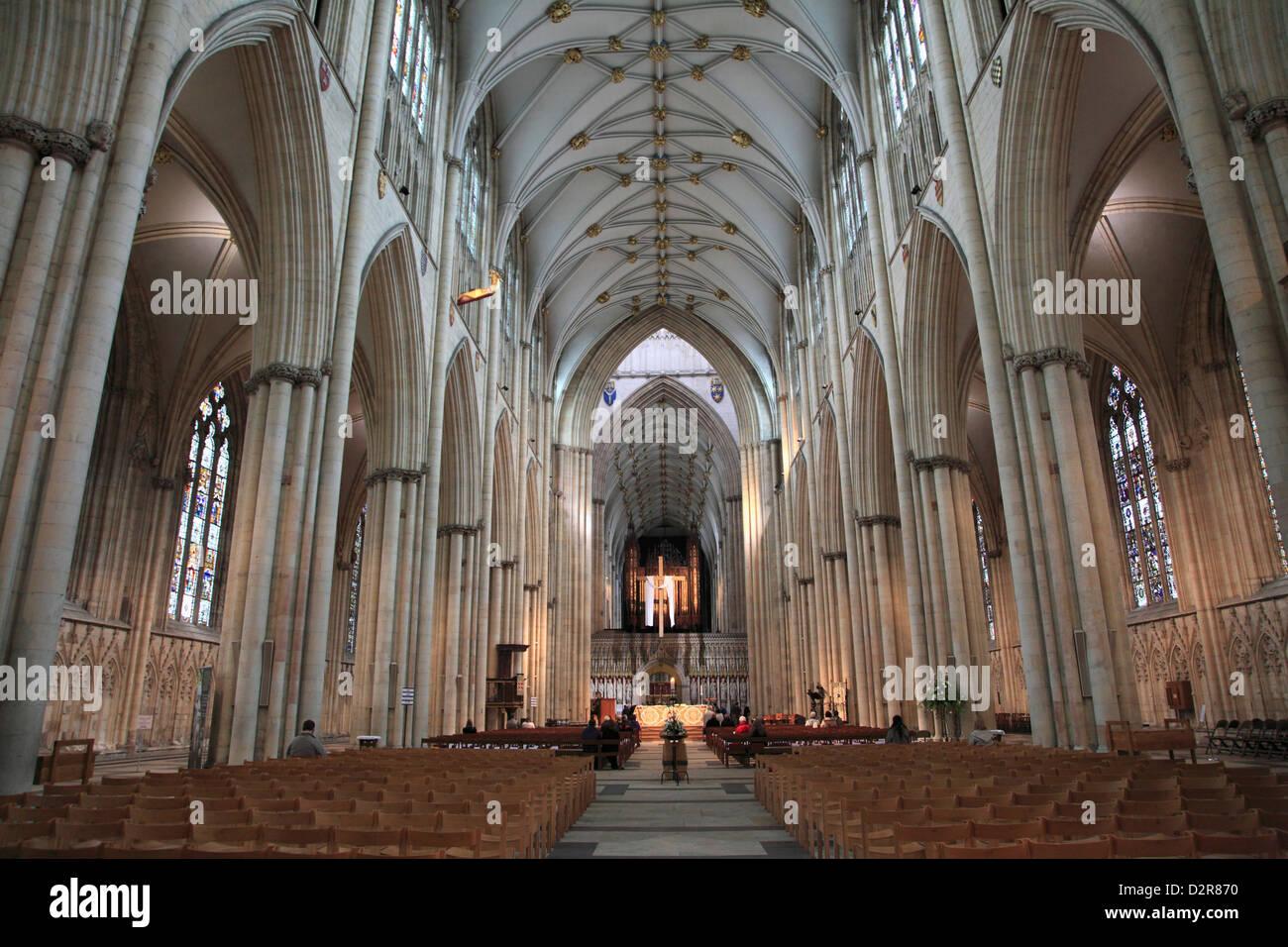 La cathédrale de York, York, Yorkshire, Angleterre, Royaume-Uni, Europe Photo Stock