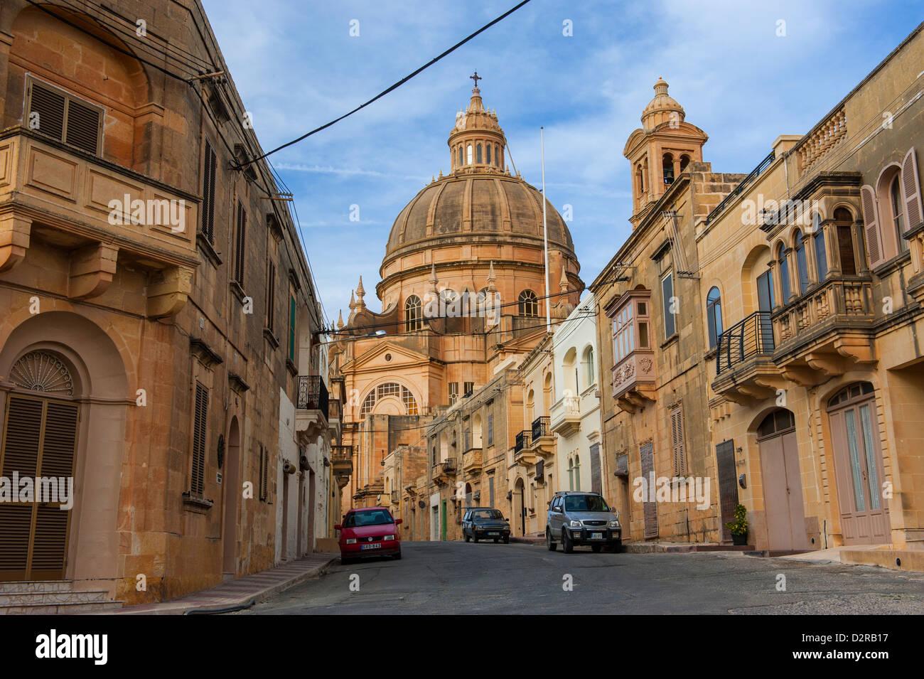 San Gwann (St. Jean le Baptiste) Basilique, Gozo, Malte, Europe Banque D'Images