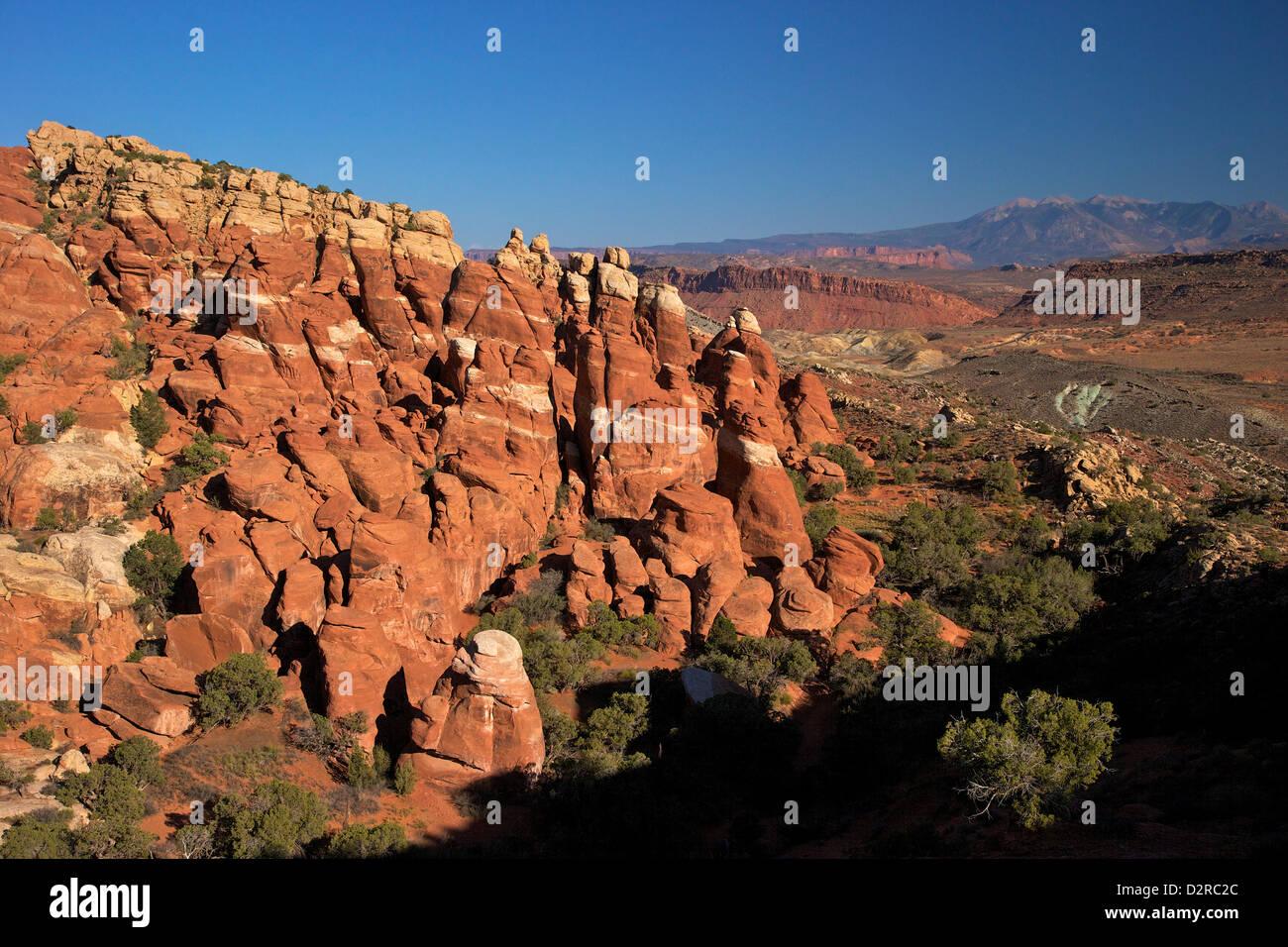 Fournaise ardente, Arches National Park, Moab, Utah, États-Unis d'Amérique, Amérique du Nord Photo Stock