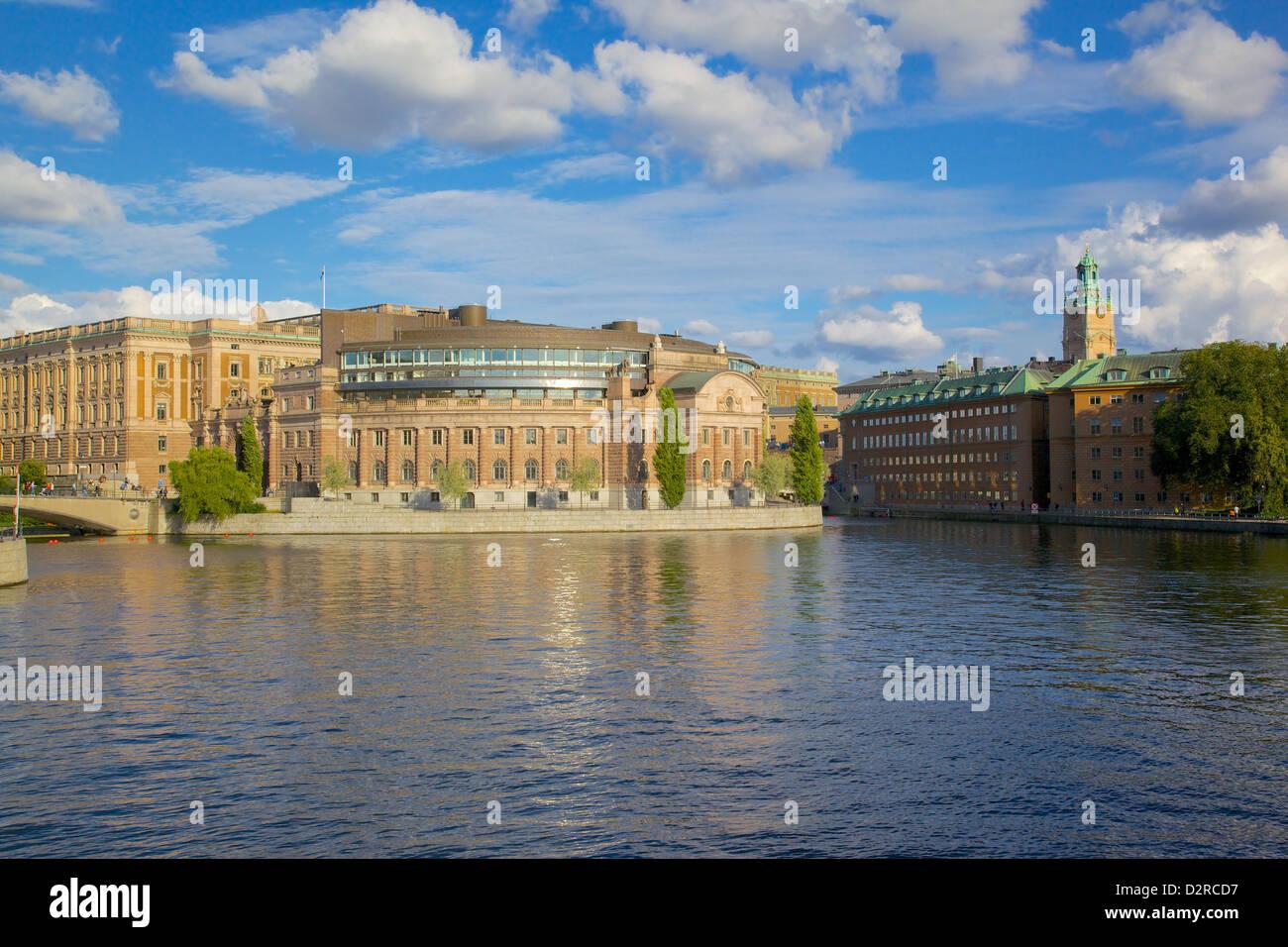 Le Parlement suédois, Gamla Stan, Stockholm, Suède, Europe Photo Stock