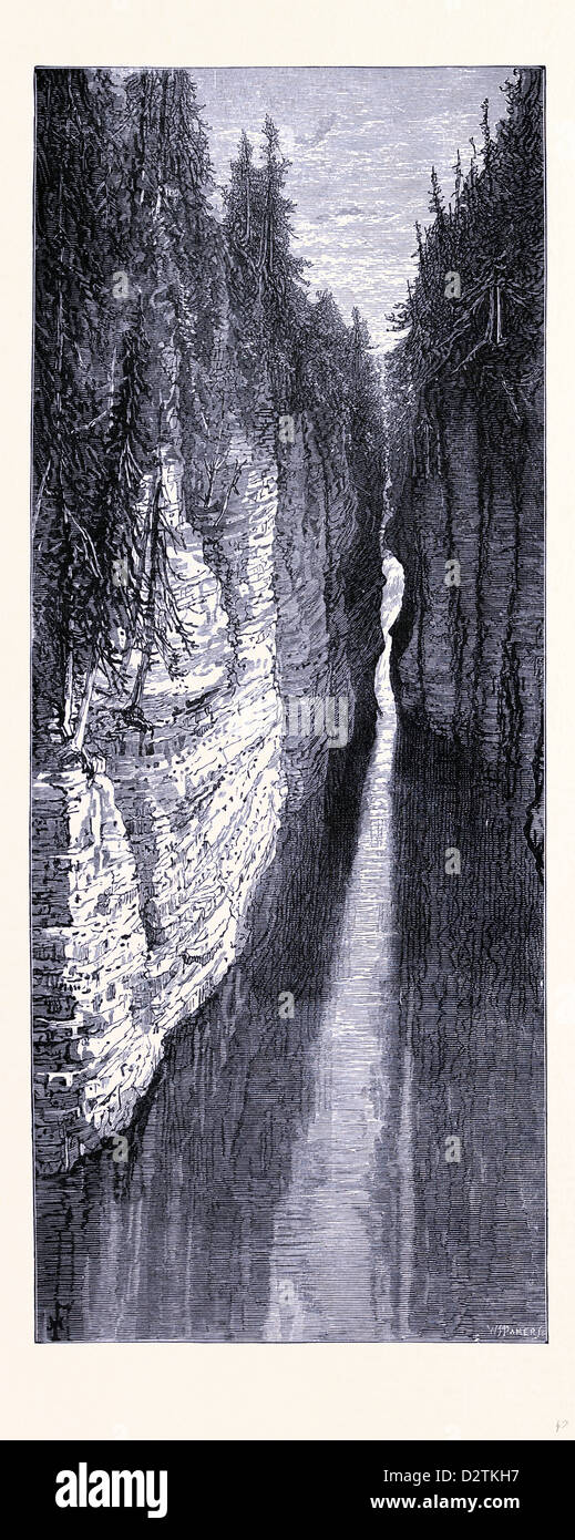 La Ausable Chasm New York United States of America Banque D'Images