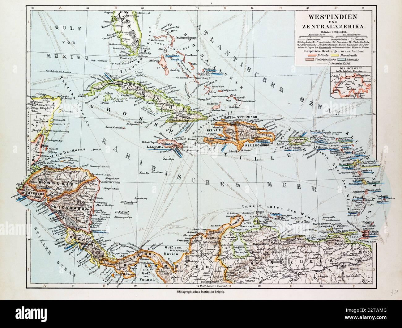 Carte Cuba Costa Rica.La Carte Du Honduras Nicaragua Costa Rica La Partie Nord Du