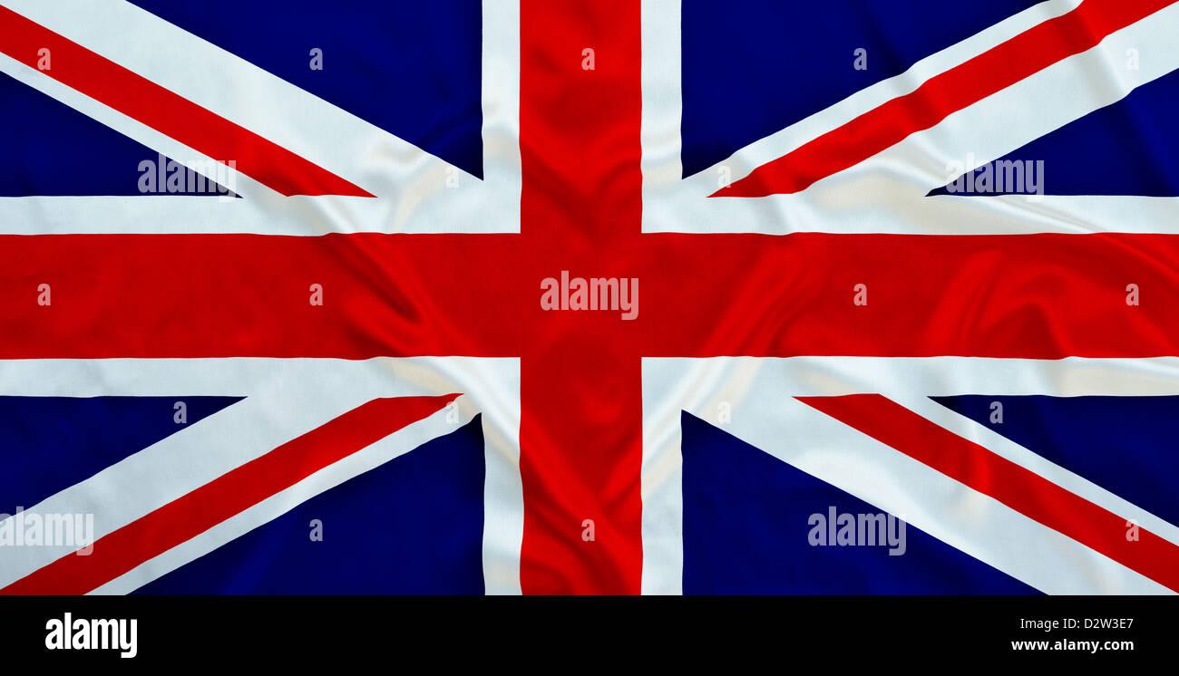 Union Jack flag et l'ondulation en forme de coeur Banque D'Images