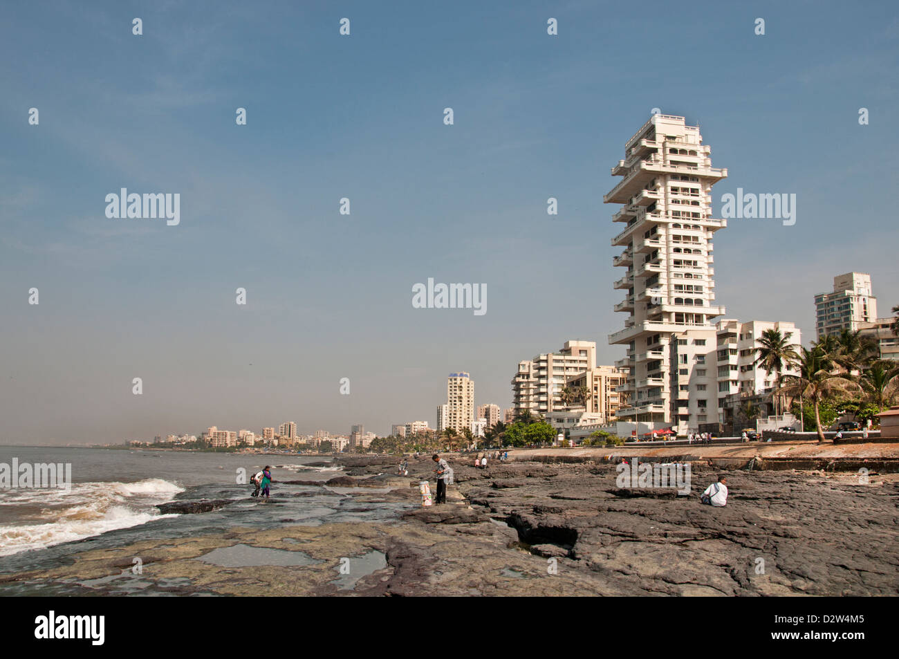 Le Bandra Beach road Mumbai ( Bombay ) Inde Architecture moderne Banque D'Images