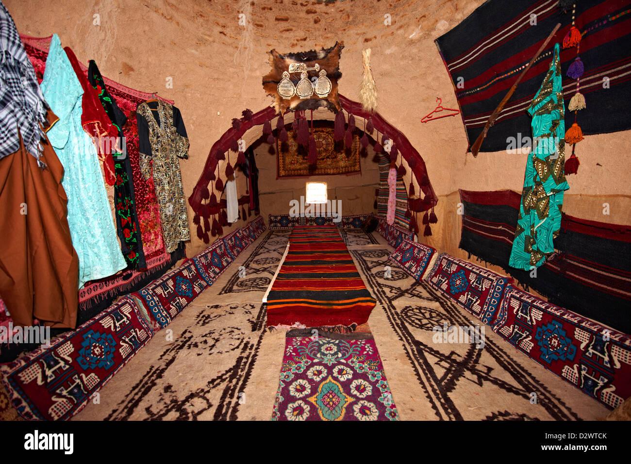 L'intérieur de bâtiments d'Harran adobe ruche, au sud-ouest de l'Anatolie, Photo Stock