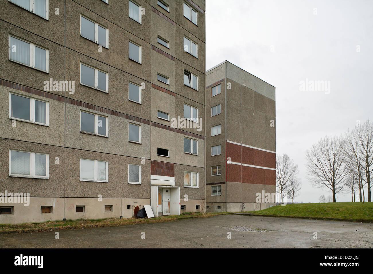 Kitzscher, Allemagne, en dalle morne Kitzscher Photo Stock