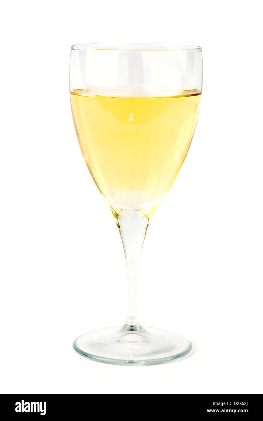 Verre de vin blanc sec Photo Stock