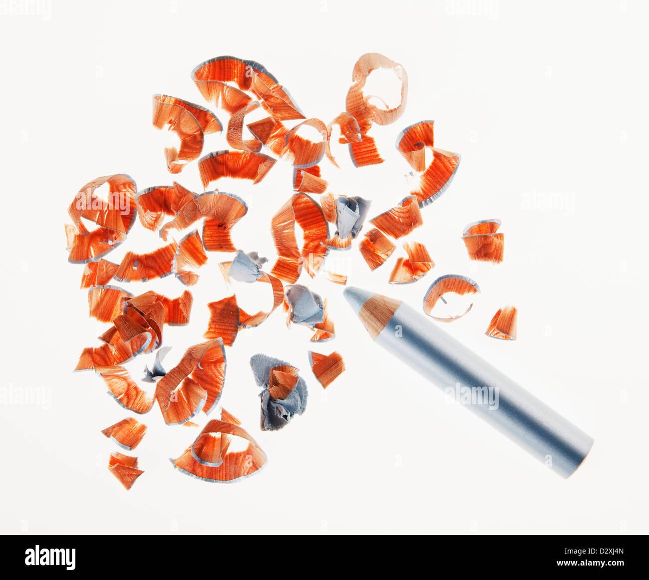 Crayon eyeliner et copeaux Photo Stock