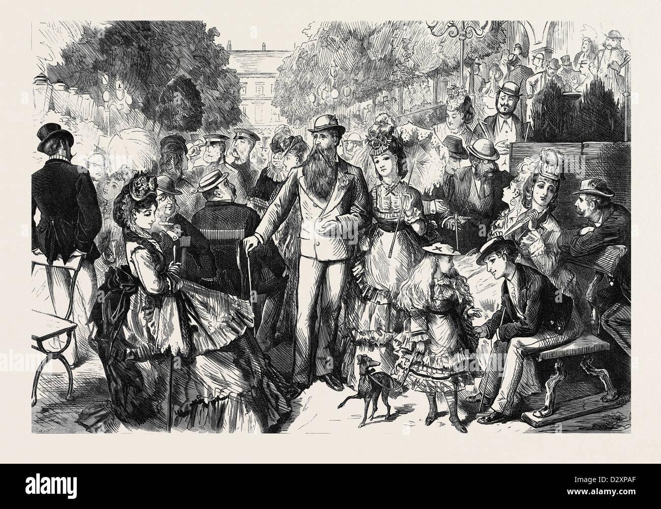 Sur le KURSAAL TERRASSE HOMBOURG-ES-MONTS 1871 Photo Stock
