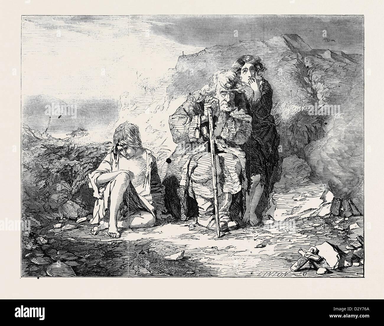 Mendiants IRLANDAIS PAR ALFRED FRIPP Photo Stock