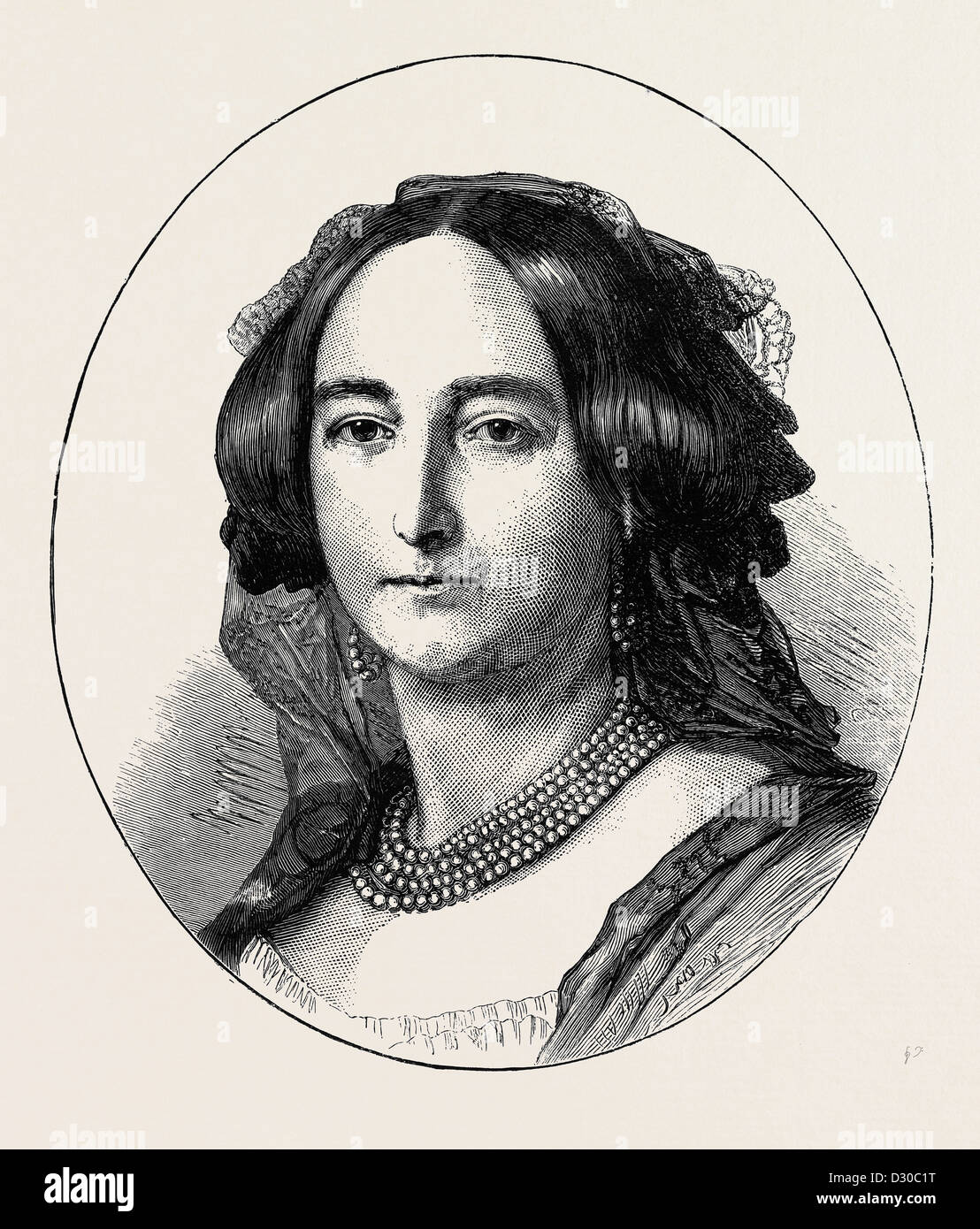 La PRINCESSE DE HOHENLOHE LANGENBURG, HER MAJESTY'S DEMI-SŒUR Photo Stock