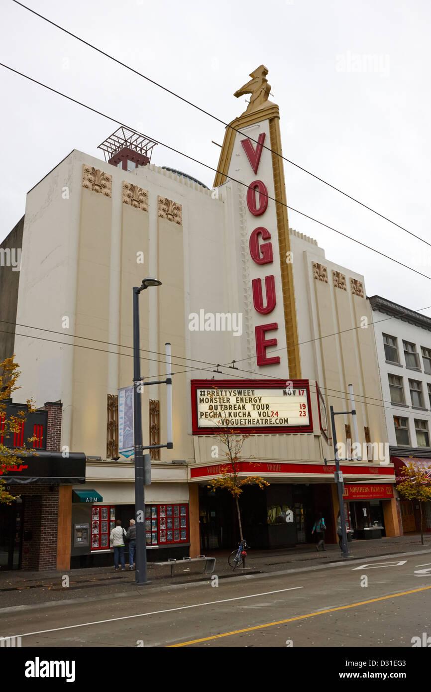 La vogue theatre Granville Street Vancouver BC Canada Photo Stock