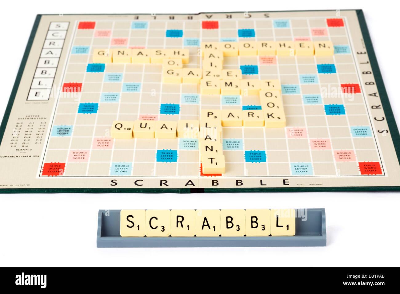 Jeu de Scrabble Banque D'Images