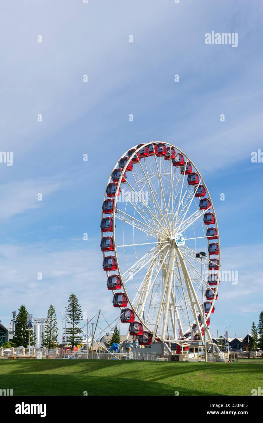 La roue d'observation Skyview à Fremantle en Australie occidentale Photo Stock
