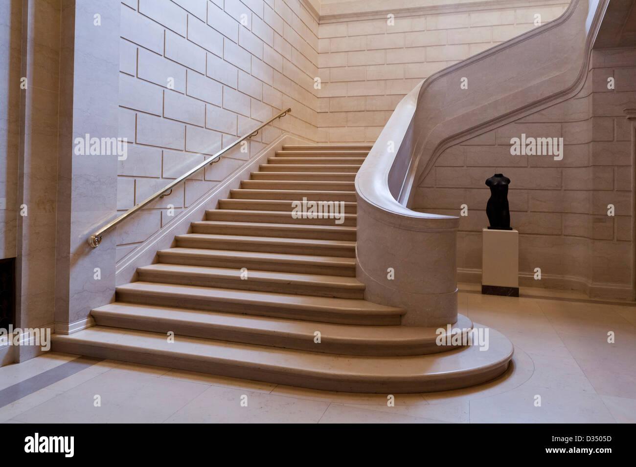 Escalier en marbre Photo Stock