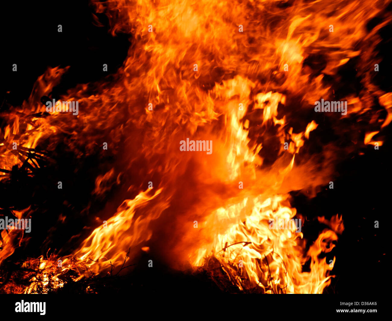 Flammes feu incendie Inferno Photo Stock