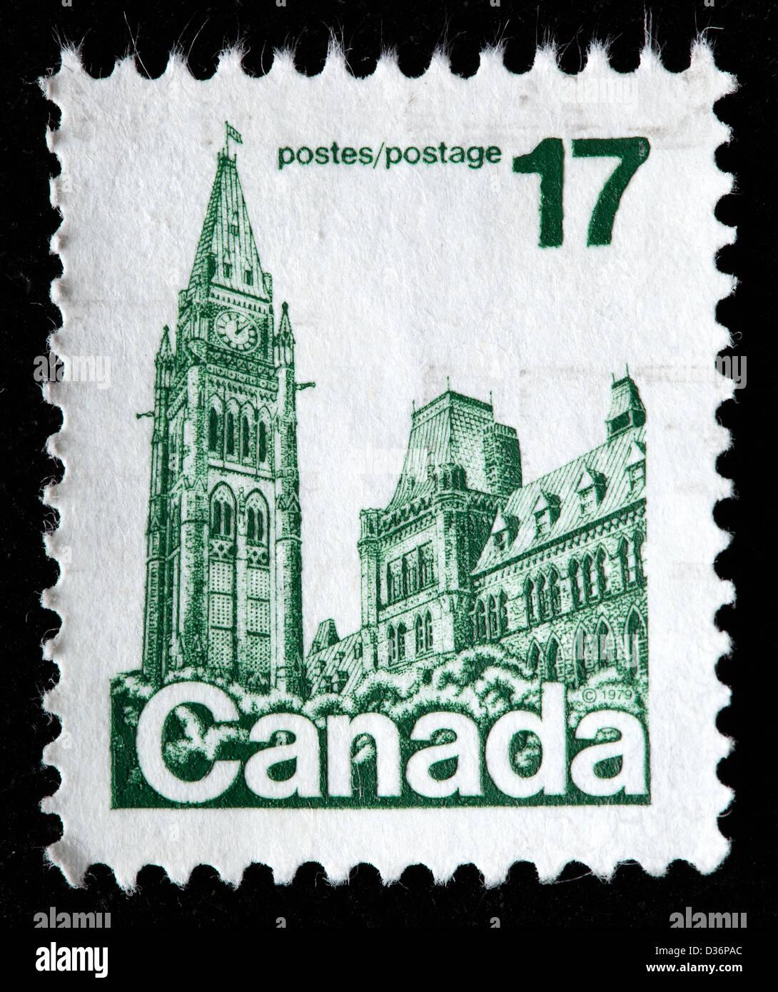 Le Parlement, Ottawa, le timbre-poste, Canada, 1979 Banque D'Images