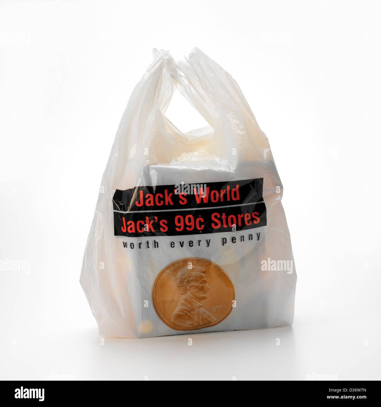 Sac à provisions en plastique Photo Stock