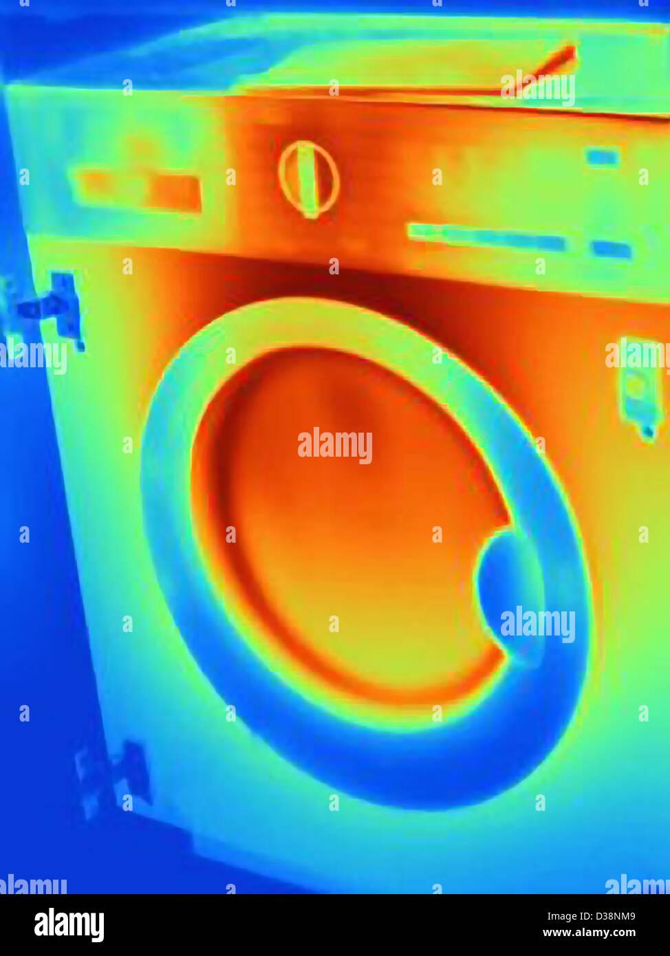 Image thermique de la machine à laver Photo Stock