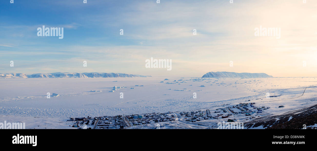 Plaines plates in snowy landscape Photo Stock