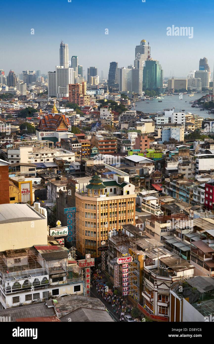 La ville de Bangkok, Chinatown, Bangkok, Thaïlande Photo Stock