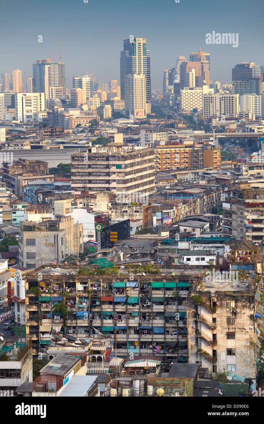 La ville de Bangkok, vue aérienne de la Grand China Princess Hotel, Bangkok, Thaïlande Photo Stock