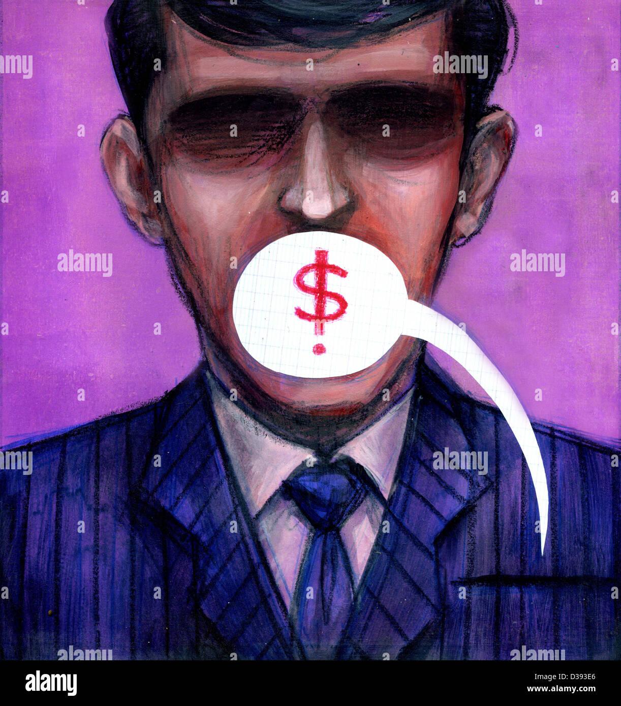 Parler d'argent Banque D'Images