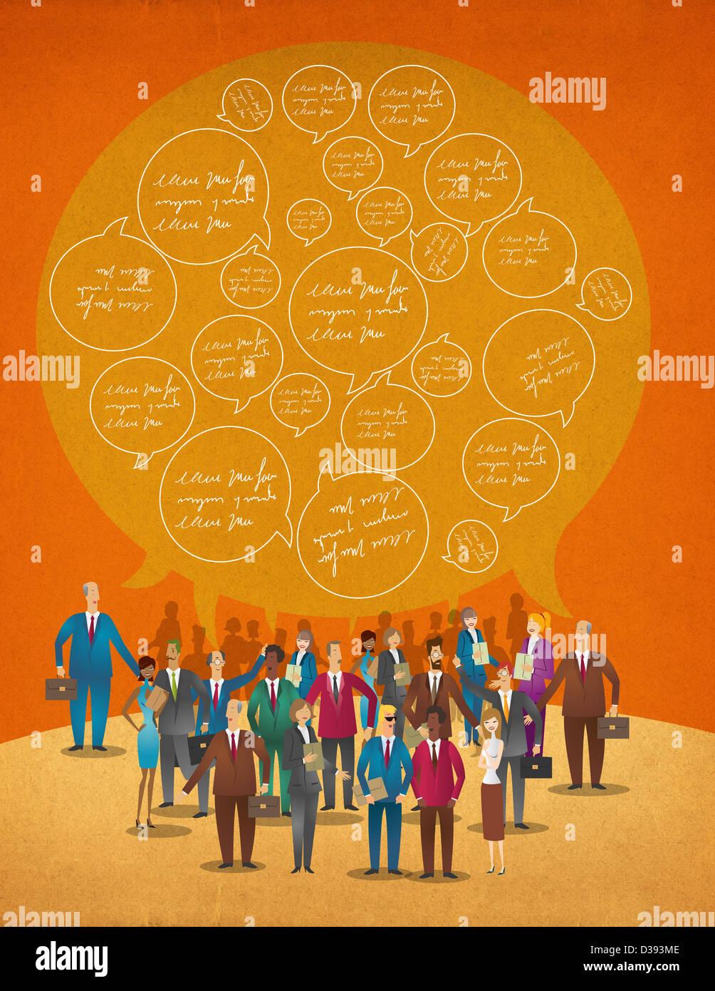Les réseaux d'affaires Photo Stock