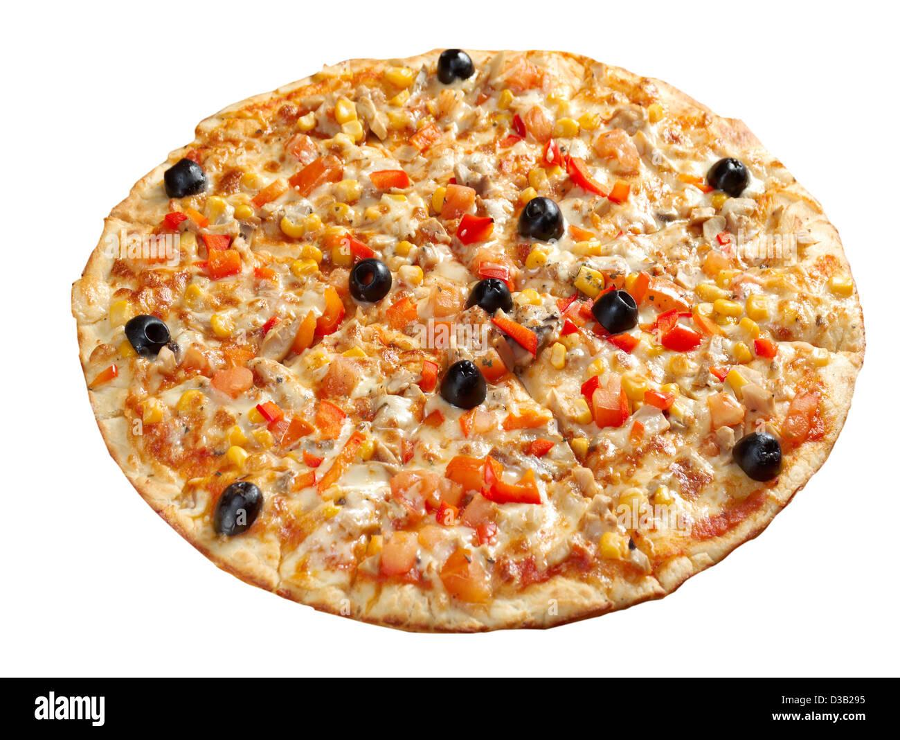 Pizza végétarienne. cuisine italienne. Studio Photo Stock