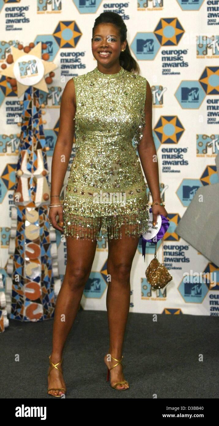 (Afp) - La chanteuse américaine Kelis était un invité au MTV European Music Awards à Barcelone, Photo Stock