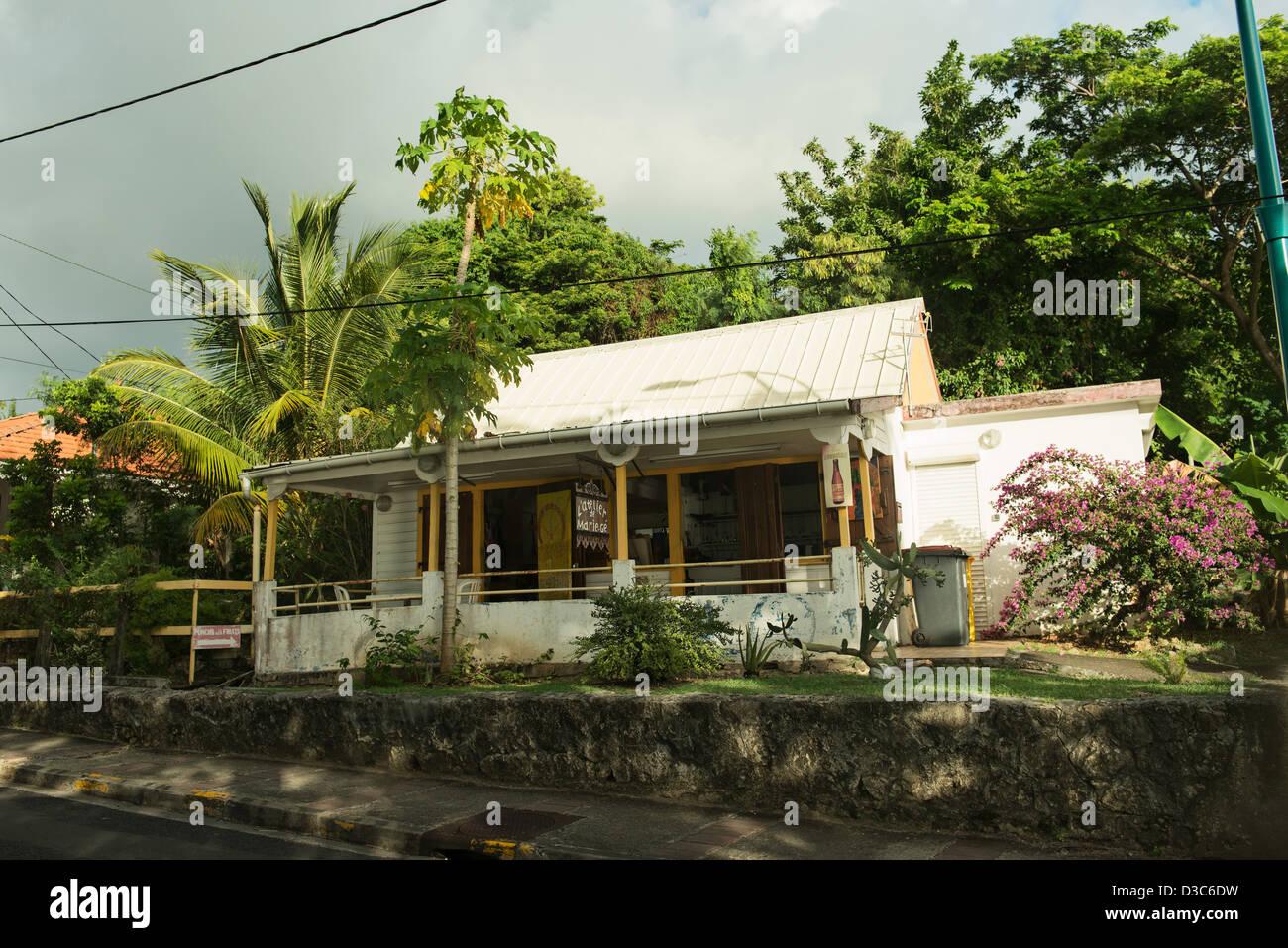 Maison ancienne, le Marin, Martinique, Petites Antilles, mer des Caraïbes, France Photo Stock