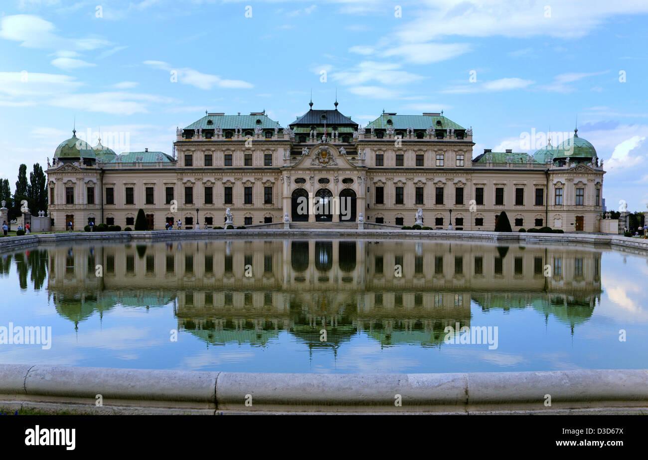 Vienne, Autriche, le Palais du Belvédère Banque D'Images
