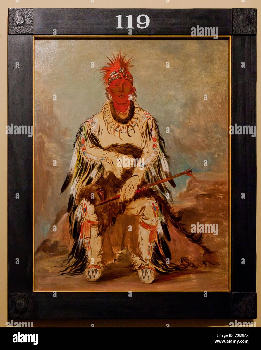 Pas moyen ke sug gah , Jiwere-Nutachi Otoe chef indien par George Catlin Photo Stock