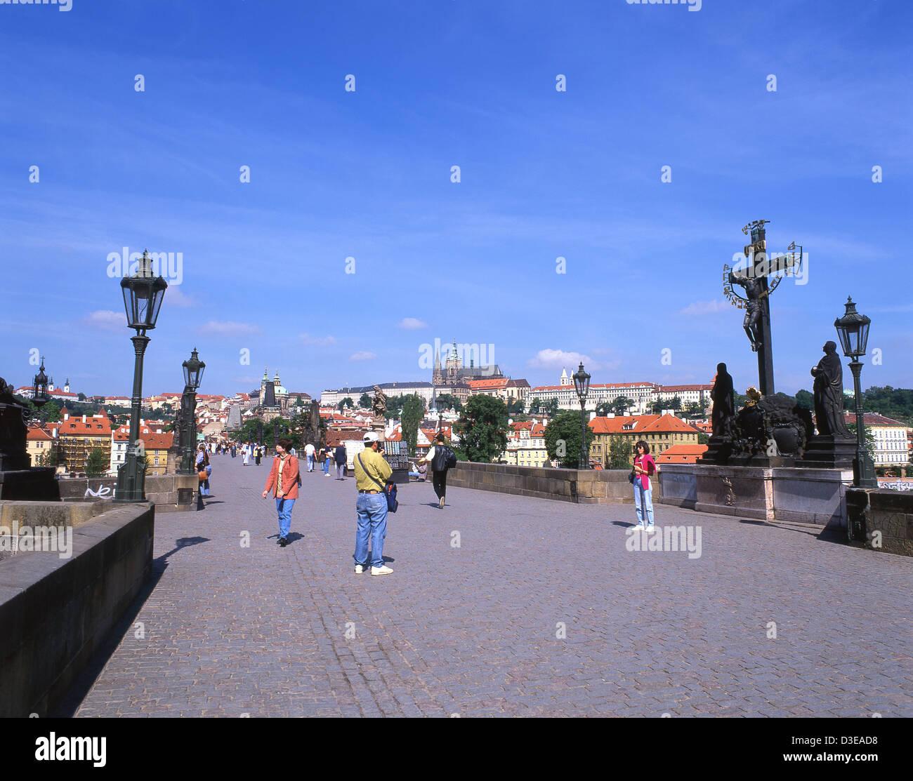 Le Pont Charles, la vieille ville (Staré Město), Prague (Praha), Région de Prague, République Tchèque Photo Stock