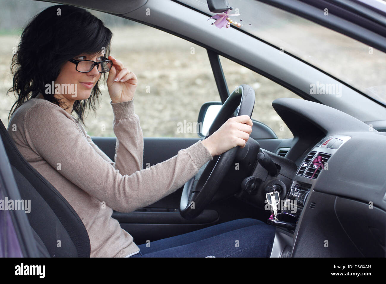 Pilote automobile Photo Stock