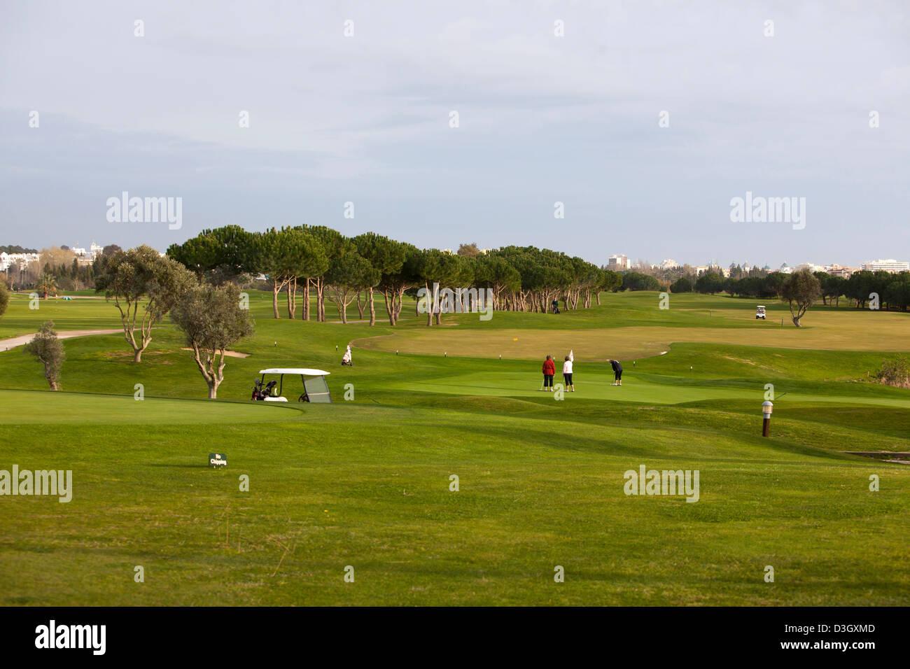 Le parcours de golf Oceânico Laguna, Vilamoura, Portugal. Photo Stock