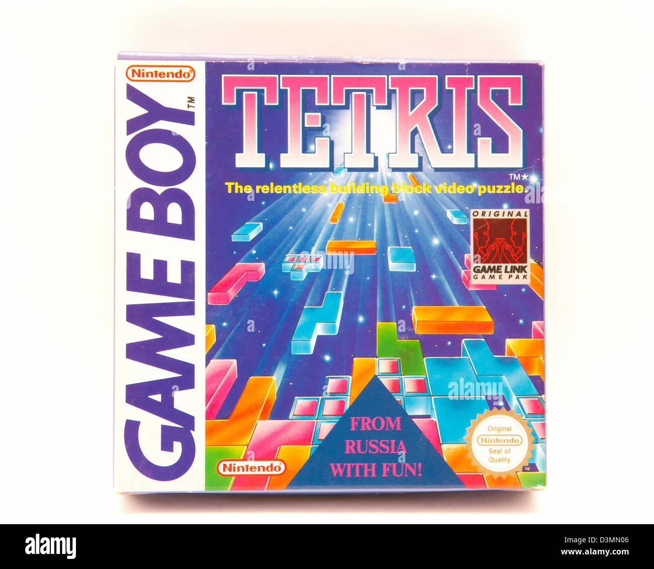 Nintendo Game Boy Tetris game box Photo Stock