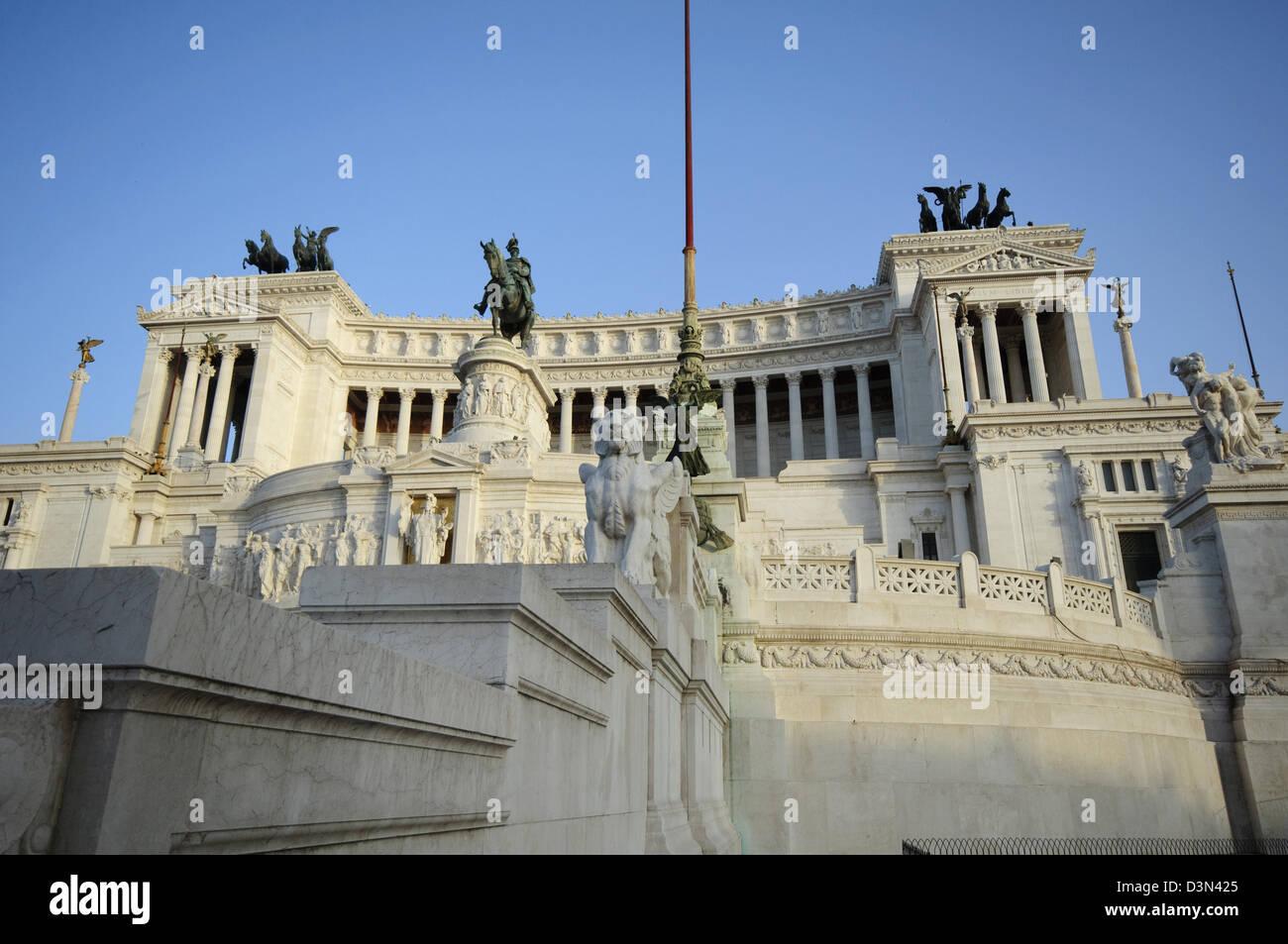 L'Italie, Lazio, Rome, la Piazza Venezia, monument de Vittorio Emanuele II, également connu sous le nom Photo Stock