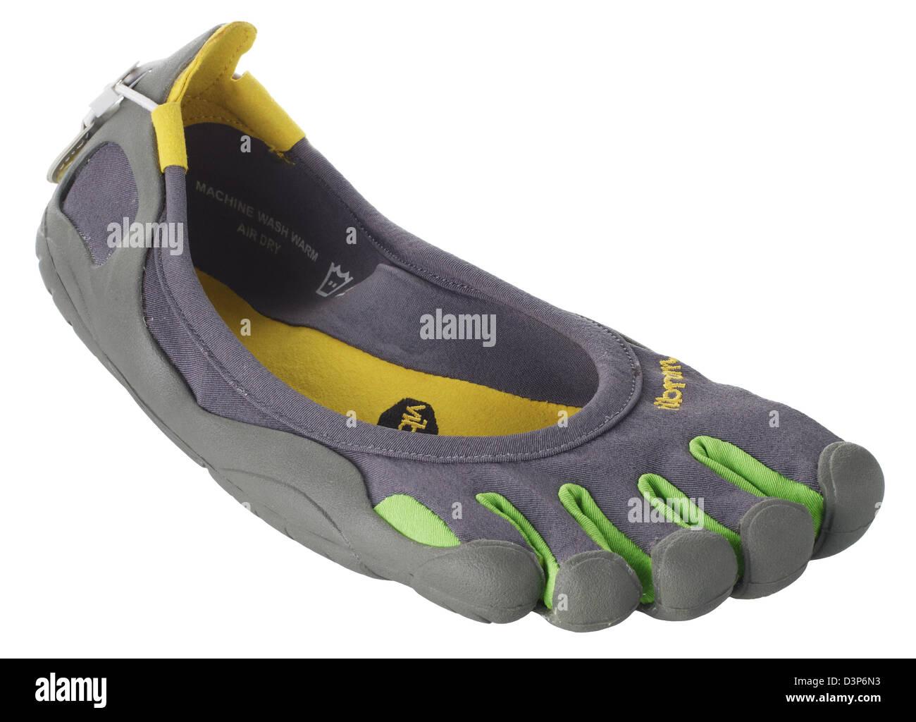 Vibram Five Fingers Chaussures de sport léger aux pieds nus Photo Stock