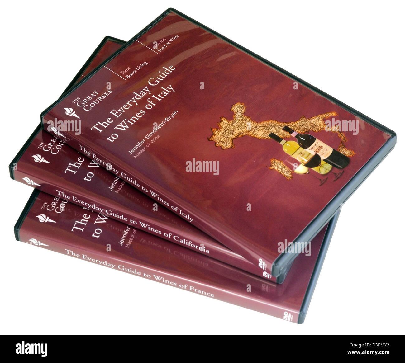 Un cours de dégustation en DVD par les grands cours Banque D'Images