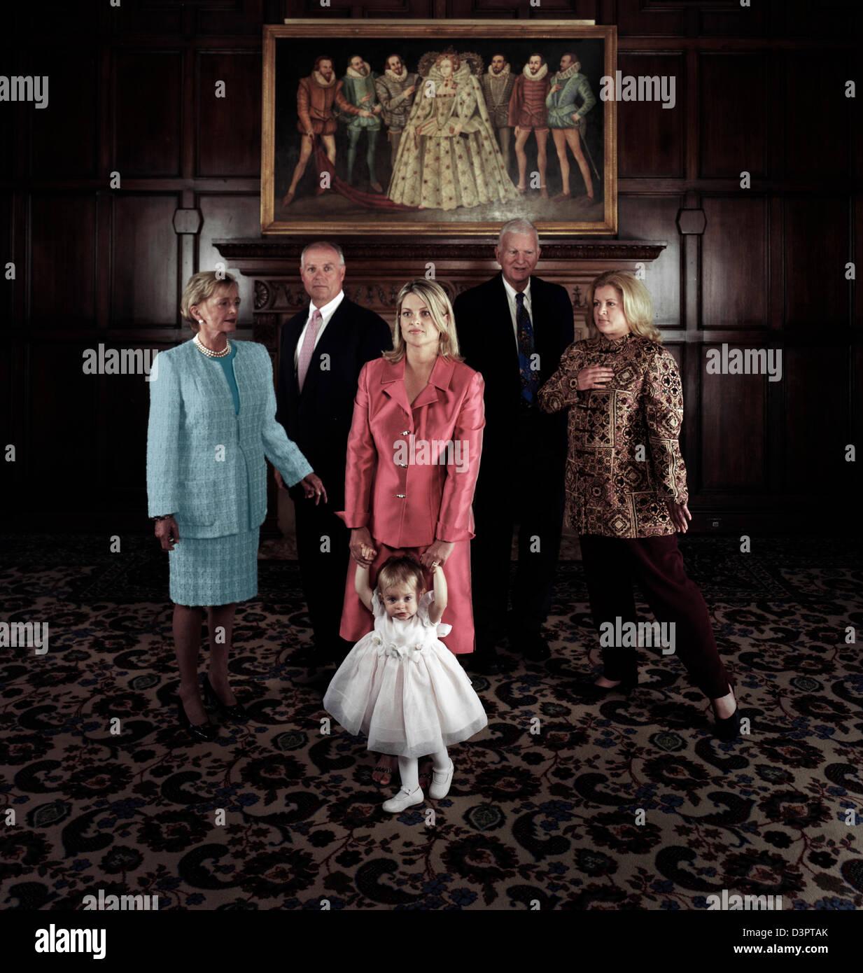 Grande famille Photo Stock