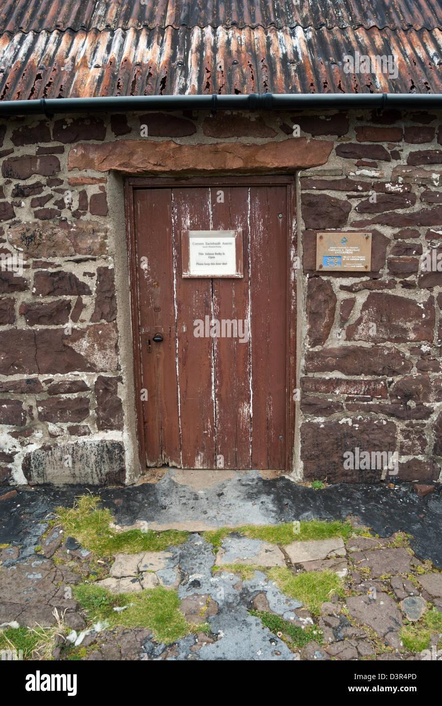 Au musée du saumon bothy, Stoer, Sutherland Assynt, Ecosse Photo Stock