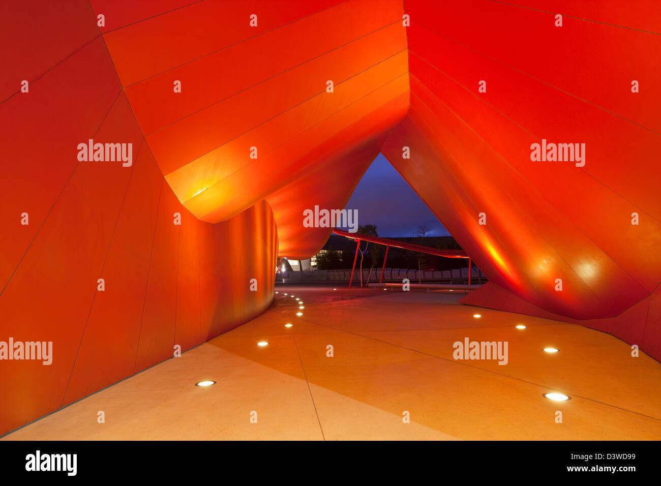Architecture de l'entrée au Musée national de l'Australie. Canberra, Territoire de la capitale Photo Stock